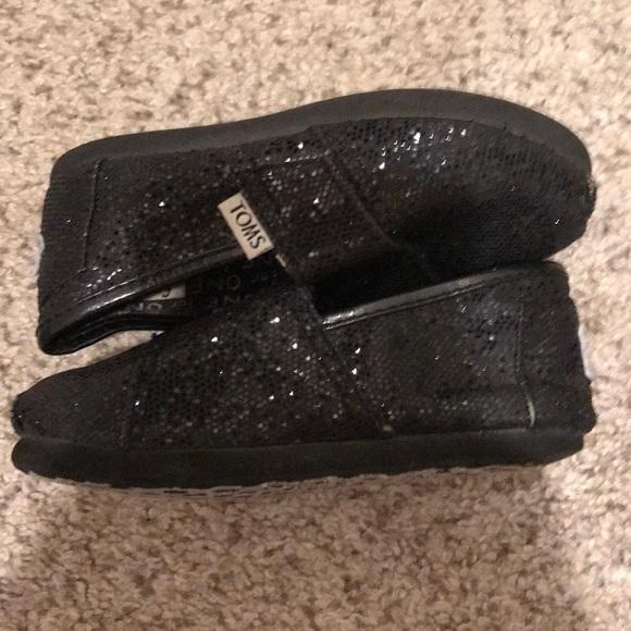 Toms Other - Kids toddler black sparkle glitter Toms size 7